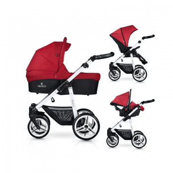 Venicci Soft 3-in-1 Travel System - Denim Red / White