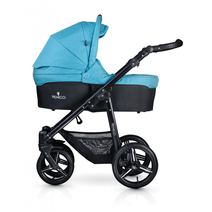 Venicci Soft 3-in-1 Travel System - Denim Sky / Black - Carrycot