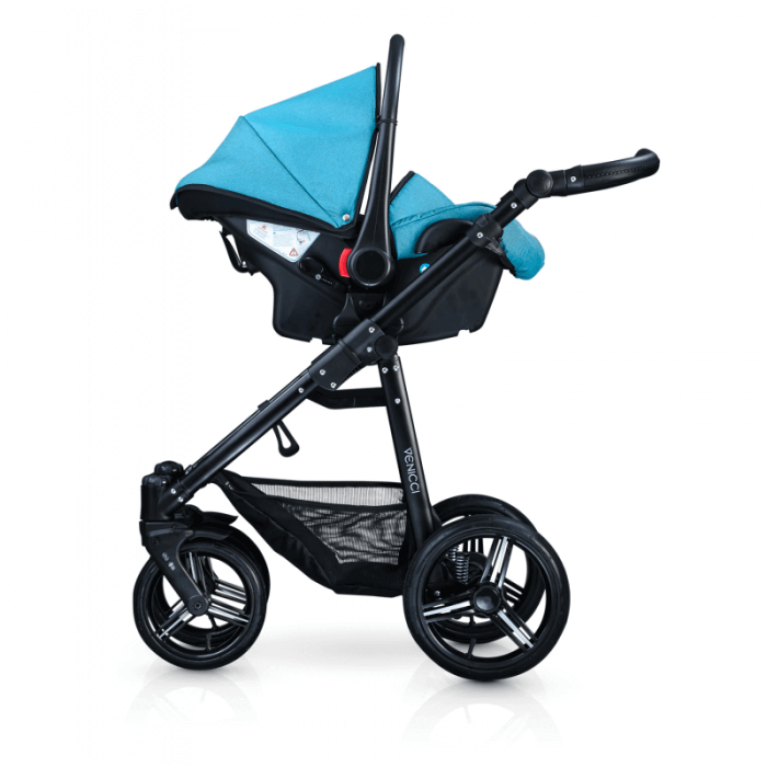Venicci Soft 3-in-1 Travel System - Denim Sky / Black - Car Seat