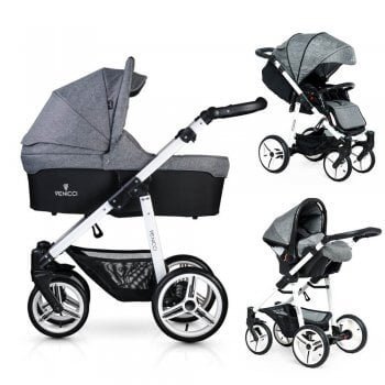 Venicci Soft 3-in-1 Travel System - Denim Grey / White