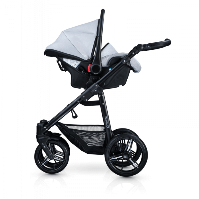 Venicci Soft 3-in-1 Travel System - Light Grey / Black - Car Seat