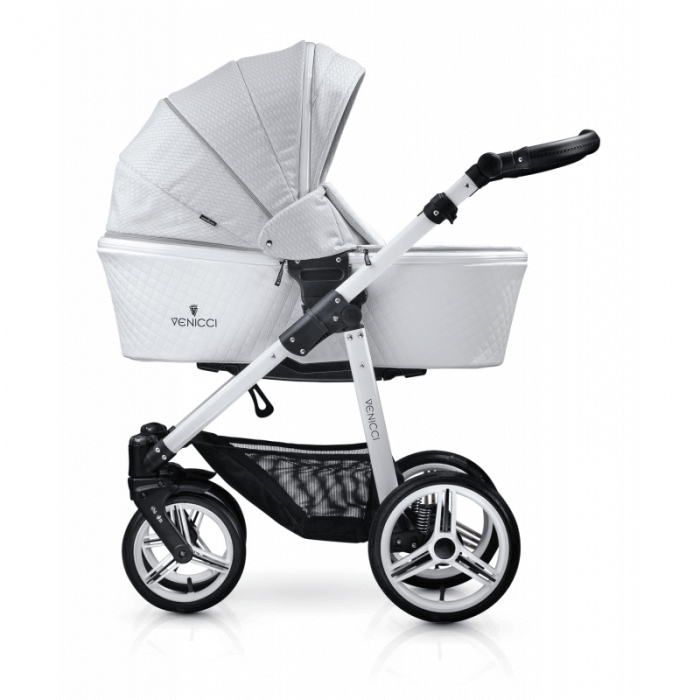 Venicci Pure 2-in-1 Travel System - Stone Grey - Carrycot
