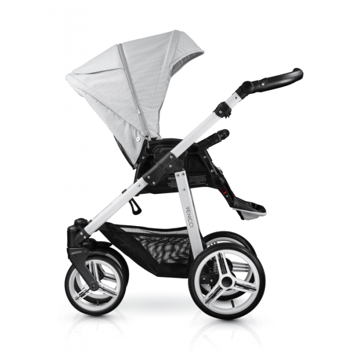 Venicci Pure 2-in-1 Travel System - Stone Grey - Pushchair