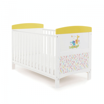 Obaby Grace Inspire Cot Bed & Mattress - B Is For Bear Happy Safari