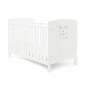 Obaby Grace Inspire Cot Bed & Mattress - Dream Big Little One