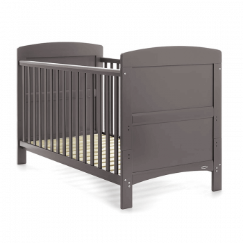 Obaby Grace Cot Bed & Mattress - Taupe Grey