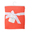 East Coast Knitted Blanket - Coral