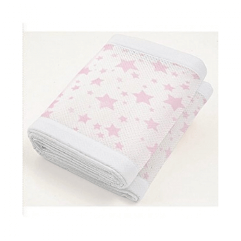 BreathableBaby Two-Sided Mesh Cot Liner - Twinkle Pink