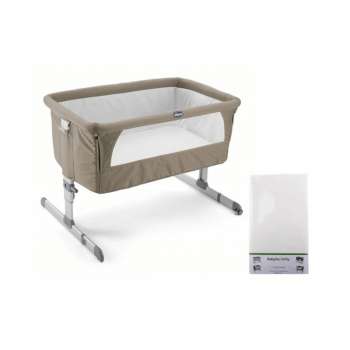 Chicco Next2Me Side Sleeping Crib & Free Fitted Sheet - Dove Grey