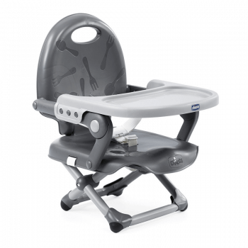 Chicco Pocket Snack Booster Seat Highchair - Dark Grey