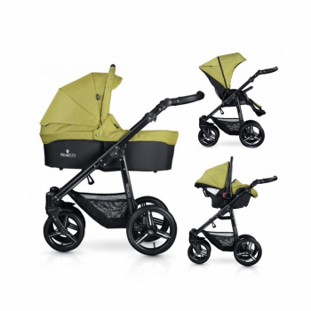 Venicci Soft 3-in-1 Travel System - Denim Green / Black