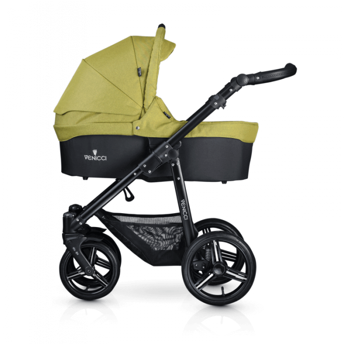 Venicci Soft 3-in-1 Travel System - Denim Green / Black - Carrycot