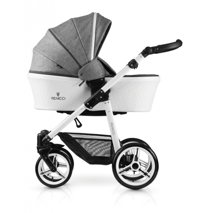 Venicci Pure 2-in-1 Travel System - Denim Grey - Carrycot