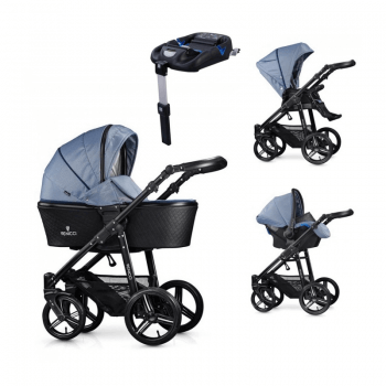 Venicci Shadow 3-in-1 Travel System & Isofix Base - Midnight Blue